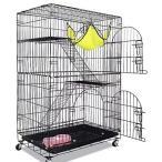 猫ケージ キャットケージ キャットルーム 組み立て式 折り畳み 2段3段 小動物 フェレット ゲージ ペットハウス 選べる4色カラー