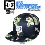 ショッピングDC DC ディーシー ニューエラ メンズ メッシュ キャップ PRINTDRESSER ADYHA03582 アジャスタブル スナップバック ロゴ 刺繍 帽子 2018モデル 正規品