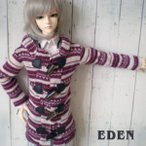 ≡EDEN≡ OUTFIT: knit coat red 40cm【アウトレット50%OFF】