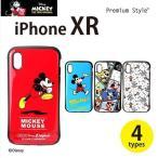 iPhone XR 6.1 インチ 用 ケース カバー ハード 耐衝撃 ハイブリッド タフケース ディズニー Disney Mickey Mouse ミッキーマウス 4デザイン PGA PG-DCS48****