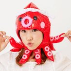 たこキャップ タコ 蛸 うみ 海 生物 ぼうし 帽子 かぶりもの コスプレ 仮装 変装 グッズ 小道具 おもしろ 爆笑 ルカン 6699