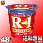 明治 ヨーグルト R-1 ブルーベリー脂肪0112g×48個 (クール便)