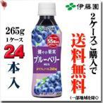 伊藤園 太陽のスーパーフルーツ ブルーベリー&アサイーミックス 【PET】265g×24本  【梱包B】