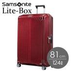 『期間限定ポイント10倍』 サムソナイト ライトボックス スピナー 81cm ディープレッド Samsonite Lite-Box Spinner 124L 79301 『送料無料』