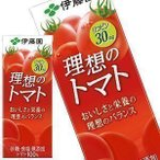 ショッピングトマトジュース 伊藤園 トマトジュース 理想のトマト 200ml紙パック×24本 [賞味期限:4カ月以上] 同一商品のみ4ケース毎に送料がかかります 【4〜5営業日以内に出荷】