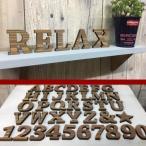 【クリックポスト・メール便対応】国産ヒノキ使用 木製 アルファベット&ナンバー 星 ブラウン スタンドタイプ レーザー加工