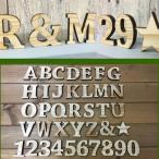 【クリックポスト・メール便対応】国産ヒノキ使用 木製 アルファベット&ナンバー 星 ナチュラル スタンドタイプ レーザー加工