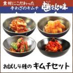(送料無料)趙さんの味 お試し4種のキムチセット 白菜キムチ150g カクテキ150g きゅうりキムチ150g 白菜無添加キムチ150g(同梱不可)