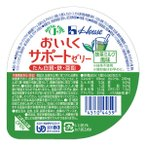 Tポイント13倍相当 【送料無料】ハウス食品株式会社 おいしくサポートゼリー 抹茶風味 63g × 60個セット 【JAPITALFOODS】