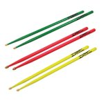 Zildjian 5A Acorn Tip Neon Color Finish ネオンドラムスティック