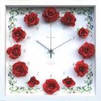 ショッピング壁掛け 壁掛け時計 Rose / Red CRC51694 (IA01035)