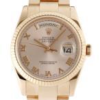 ROLEX ロレックス デイデイト P番 (2000年製) 118235 腕時計 750ピンクゴールド ピンク ローマン 文字盤 メンズ 中古 (銀座店)/DH48601