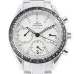 オメガ スピードマスター 326.30.40.50.02.001 腕時計 ステンレススチール OMEGA ホワイト文字盤 レディース 中古 (銀座店)/DH51746
