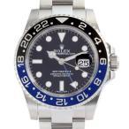 ロレックス GMTマスターII 116710BLNR 腕時計 ステンレススチール ROLEX ブラック文字盤 メンズ 中古 (銀座店)/DH51920