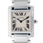 カルティエ タンクフランセーズ SM サイドダイヤモンド WE1002S3 腕時計 750ホワイトゴ ...