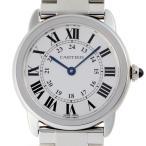 カルティエ ロンド ソロ SM W6701004 腕時計 ステンレススチール CARTIER シルバ ...