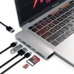 最安|高評価!Satechi Type-C アルミニウム Proハブ Macbook Pro 13/15インチ対応 40Gbs Thunderbolt 3 4K HDMI Micro/SDカード USB 3.0ポート×2 マルチ USB ハブ (シルバー)