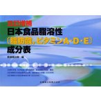 五訂増補日本食品脂溶性〈脂肪酸,ビタミンA・D・E〉成分表
