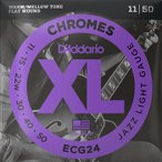 D'Addario ECG24 Flat Wound 3弦ワウンド 011-050 ダダリオ フラットラウンド エレキギター弦