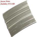 Jescar ジェスカー ステンレス フレットワイヤー 24本セット 2.54mm x 1.45mm #51100 Stainless