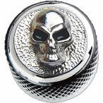 Q-Parts Dome Knob Angry Skull-Metal Chrome KCD-0119 インチ/ミリ共用 Qパーツノブ