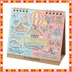 ミッキー&フレンズ 卓上カレンダー 2021年 手書き風デザイン 月曜始まり ディズニー グッズ お土産(東京ディズニーリゾート限定)