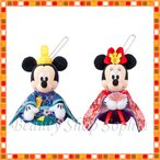 ミッキーマウス ミニーマウス おひな様 ぬいぐるみバッジセット 2018 ひな祭り ひな飾り ディズニー 雛人形 ひな祭り ひな人形 (東京ディズニーリゾート限定)