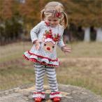 サンタ コスプレ クリスマス トナカイ コスチューム 鹿 仮装 衣装 女の子 キッズ 長袖 可愛い パーティー