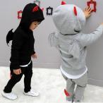 ハロウィン衣装 子供 仮装 男の子 コウモリ風 フード付き ハロウィン デビル パーカーハロウィン コスプレ キッズ セットキッズ 小悪魔