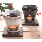 香炉 陶器/ 茶香炉 黒いぶし /アロマ プレゼント 贈り物 箱入り