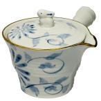 急須 ティータイム 花柄 可愛い お茶 紅茶/ 菊唐草ポット /敬老の日 母の日 還暦などのお祝い 贈り物 ギフト