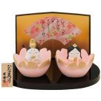 雛人形 コンパクト 陶器 小さい 可愛い ひな人形/ 雅桜花雛 /ミニチュア 初節句 お雛様 おひな様 雛飾り