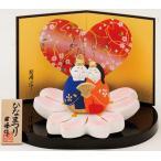 雛人形 コンパクト 陶器 小さい 可愛い ひな人形/ 平安桜花雛 /ミニチュア 初節句 お雛様 おひな様 雛飾り
