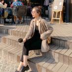 レディース スーツコート 春 ジャケット アウター おしゃれ チェスターコート 大きいサイズ エレガント ゆったり 女性 大人 シンプル通勤通学