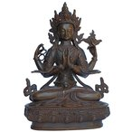 ネパール仏像 六字咒観音菩薩