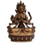 仏像 アンティーク仕様 六字咒観音菩薩46