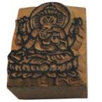 木彫り アジアン雑貨 ネパール・仏像・仏具・手彫りスタンプ 1 クリックポスト選択 送料200円