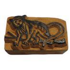 木彫り アジアン雑貨 ネパール・アニマル・手彫りスタンプ 15 クリックポスト選択 送料200円