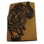 木彫り アジアン雑貨 ネパール・アニマル・手彫りスタンプ 25 クリックポスト選択 送料200円