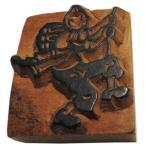 木彫り アジアン雑貨 ネパール・人と家・手彫りスタンプ 2 クリックポスト選択 送料200円