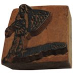 木彫り アジアン雑貨 ネパール・人と家・手彫りスタンプ 6 クリックポスト選択 送料200円
