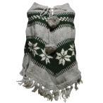 ショッピンググレー アジアン衣料 ネパール手編みポンチョ16