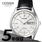 シチズンコレクション Citizen Collection AT6060-00A 国内電波ソーラー 革バンド 黒 ブラック 腕時計 メンズ