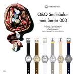 P+10倍!プレミアム会員限定 Q&Q キューアンドキュー Smile Solar mini スマイルソーラー ミニ シチズン 腕時計 レディース 10気圧防水 SS4