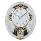 リズム時計 からくり電波掛け時計 ミッキー&フレンズM509 4MN509MC03 ディズニー