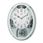 からくり時計 リズム時計 掛け時計 メロディクロック スモールワールドプラウド グリーン 4MN523RH05