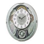 からくり時計 リズム時計 掛け時計 スモールワールドビスト 青 4MN537RH04