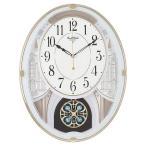 リズム時計 電波掛け時計 スモールワールドエクラ 4MN548RH03
