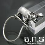 銀の河馬、カバキーリング シルバー925 SV925(キーホルダー、キーチェーン、鍵、ヒポポタマス、かば、Hippopotamus amphibius、動物)