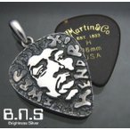 ジミ・ヘンドリックスピックケースペンダント シルバー925 (ミュージシャン、ギター、ギタリスト、ロック ジミヘン Jimi Hendrix)